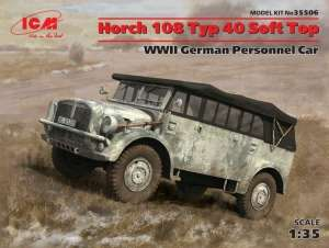 WWII German Personnel Car Horchata 108 Typ 40 Soft Top