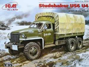 WWII Army Truck Studebaker US6 U4 model ICM 35514 in 1-35