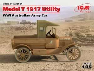 Model T 1917 Utility WWII Australian Army Car in scale 1-35