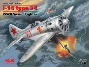 I-16 type 24 WWII Soviet Fighter in scale 1-48