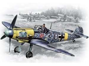 Messerschmitt Bf 109F-2 WWII German Fighter in scale 1-48 ICM 48102