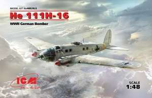 He 111H-16 WWII German Bomber in scale 1-48 ICM 48263