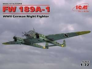 Night Fighter Fw 189A-1 in scale 1-72 ICM 72293