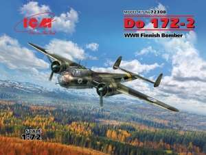 WWII Finnish Bomber Do 17Z-2 in scale 1-72 ICM 72308