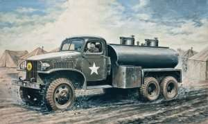 2 1/2 ton. 6x6 Water Tank Truck in scale 1-35