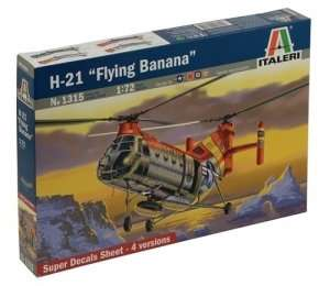 Helicopter H-21 Flying Banana in scale 1-72