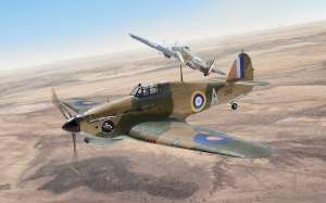 Hurricane Mk.I Trop model Italeri 2768 in 1-48