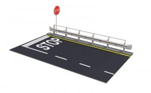 Guard Rail and Road Secton for display Italeri 3864