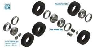European Tractors Tyres and Rims in scale 1-24 Italeri 3909