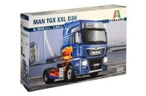 MAN TGX XXL D38 model in scale 1-24