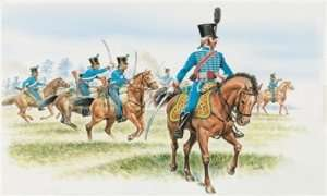 French Hussars in scale 1-72