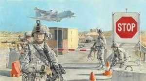 Italeri 6521 Road block and U.S. soldiers