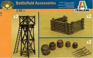 Battlefield Accessories in scale 1-32 Italeri 6870