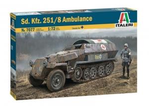 Sd.Kfz.251/8 Ambulance model Italeri 7077 in 1-72