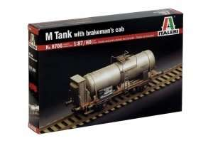 M Tank with brakemans cab in scale 1-87