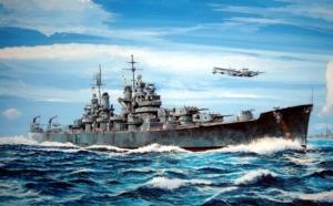 USS Baltimore CA-68 1943 model Trumpeter 05724 in 1-700