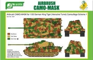 Airbrush Camo-Mask for 1-35 German King Tiger
