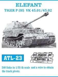 Metal track for Elefant / Tiger P (H) VK 45.01/45.02 in scale 1:35
