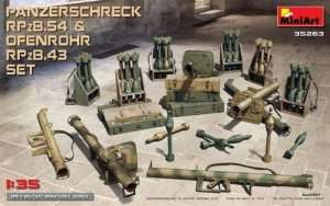 Panzerschreck RPzB 54 and Ofenrohr RPzB 43 set in scale 1-35