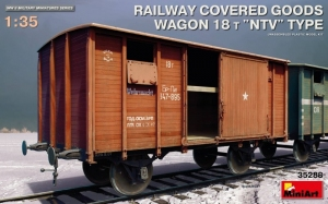 Railway Covered Goods Wagon 18t NTV Type MiniArt in 1-35