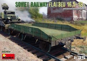 Soviet Railway Flatbed 16,5 - 18 t model MiniArt in 1-35