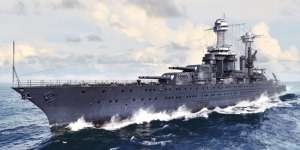 Model USS Tennessee BB-43 1941 in 1:700 Trumpeter 05781