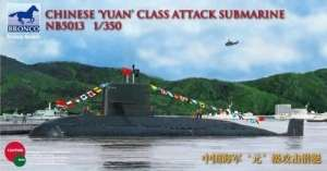 Chinese'Yuan'class Attack Submarine in 1:350 Bronco 5013