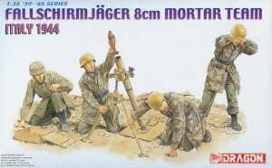 Fallschmirjager 8cm Mortar Team in scale 1-35