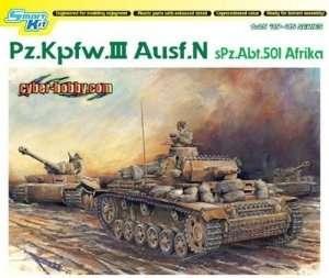 Tank PZ.III ausf. N in scale 1-35