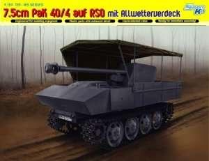 7.5cm PaK 40/4 auf RSO mit Cover in scale 1-35