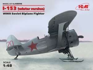 ICM 48096 WWII Soviet Biplane Fighter I-153 in scale 1-48