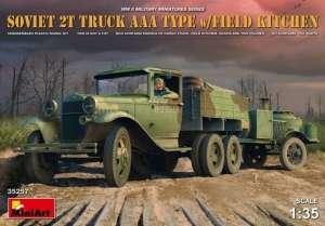 Model MiniArt 35257 Soviet 2t Truck AAA w/field kitchen