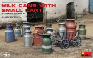 Model MiniArt 35580 Milk Cans with Small Cart