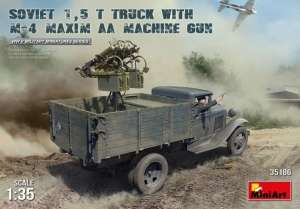 Soviet 1,5t Truck w/M-4 Maxim AA Machine Gun in 1:35 Miniart 35186