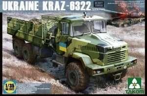 Ukraine Kraz - 6322 in scale 1-35 Takom 2022