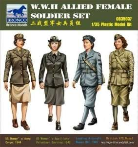 W.W.II Allied Female Soldier Set 1:35