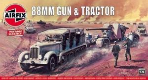 Model Airfix 02303V 88mm Flak Gun& Tractor