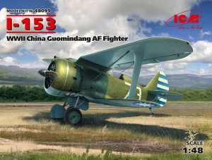 Model ICM 48099 I-153, WWII China Guomindang AF Fighter