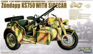 WWII German Zündapp KS 750 with Sidecar GreatWallHobby 3508