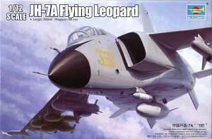 Model fighter PLA JH-7A Flying Leopard in scale 1:72