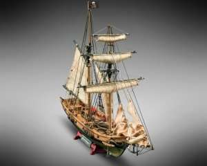 Blackbeard - Mamoli MV82 - wooden pirate ship model kit