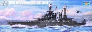 Model Battleship USS Maryland (BB-46) 1941 1:700