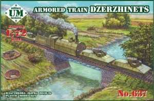 Armored Train Dzerzhinets in scale 1-72
