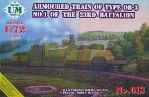 Armored Train - OB-3 No.1 of the 23RD Battalion in scale 1-72