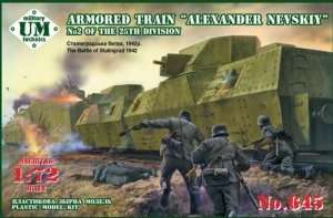 Armored Train Alexander Nevskiy in scale 1-72