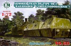 Armored Train of type OB-3 in scale 1-72
