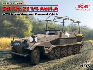 Model ICM 35102 Sd.Kfz.251/6 Ausf.A, WWII German Armoured Command Vehicle
