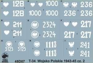 T-34 tanks in Polish service 1943-45 vol.2 1-48