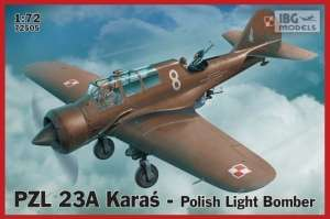 Polish Light Bomber PZL 23A Karaś model IBG in 1-72