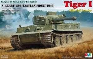Tiger I Pz.Kpfw.VI Ausf.E w/Full Interior model RM-5003 in 1-35